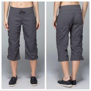 Lululemon Studio Crop Pants Soot Light Gray